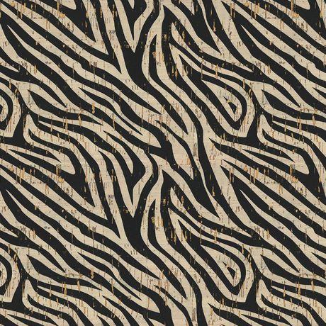 Tissu liège Stof impression animal + doré