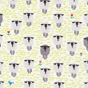 Tissu coton bio mouton