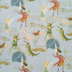 Tissu coton Little Peter Pan laize 150cm