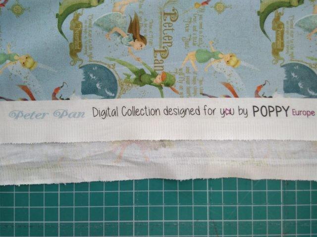 Tissu coton Poppy Peter Pan détails