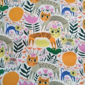 Tissu coton bio Happy Jungle