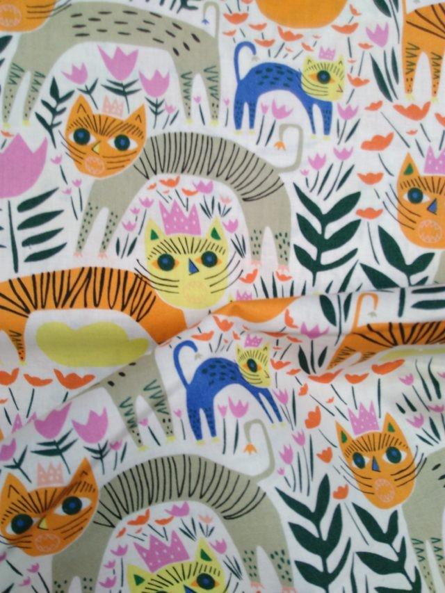 Tissu coton bio Cloud9 Happy Jungle détail