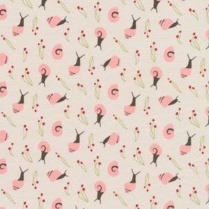 Tissu coton bio Les Escargots d'été