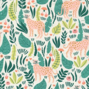 Tissu coton bio Jungle Cats