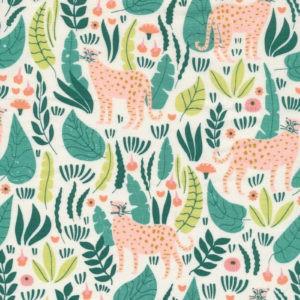 Tissu coton bio Jungle Cats