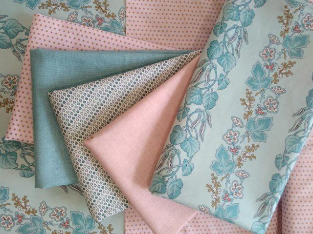 Andover Fabric Linen texture and Froufrou Fabri Camaieu 2