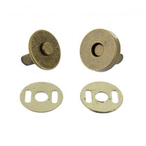Bouton pression aimanté 15mm bronze