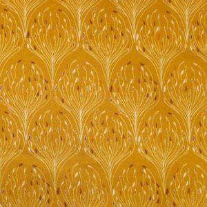 Popeline tissu bio : Paon doré (x10cm)