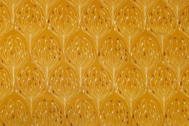 Popeline tissu bio Paon doré