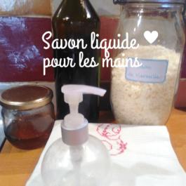 Savon liquide pour les mains au miel et à l'huile d'olive