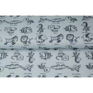 Tissu jersey imprimé Les zanimaux