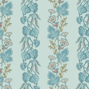 Tissu coton Blue Bleeding heart