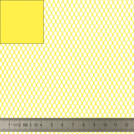Tissu filet Mesh Fabric jaune 40 SUP209 JAUNE