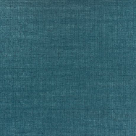 Tissu lin enduit Bleu pétrole
