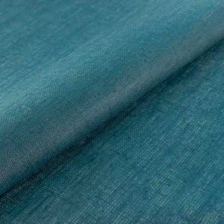 Tissu lin enduit bleu pétrole 2