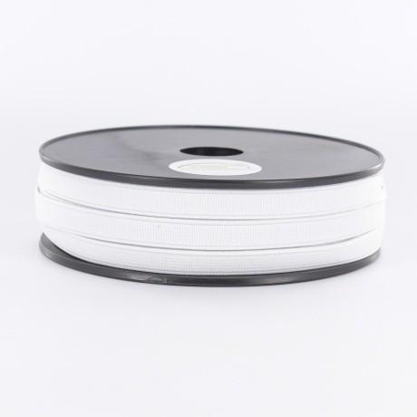 Élastique cotelé 10mm blanc