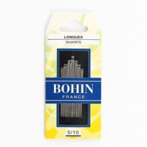 Aiguilles à coudre longue n°5/10 Bohin