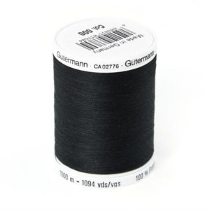 Fil à coudre polyester  Gütermann Noir Bobine de 1000m