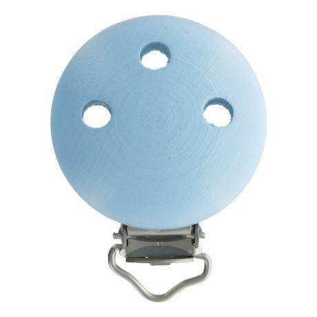 Clip bois Bleu pour attache tétine 37x11,5mm