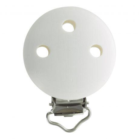 Clip bois blanc pour attache tétine 37x11,5mm