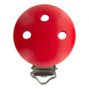 Clip bois rouge pour attache tétine 37×11,5mm
