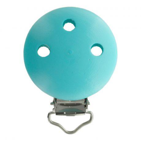 Clip bois turquoise pour attache tétine 37x11,5mm