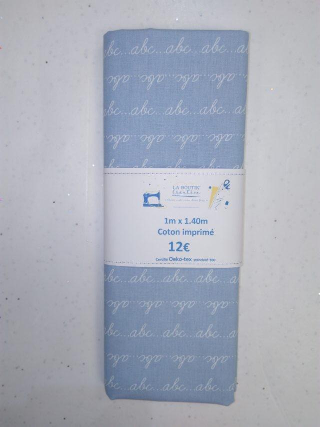 Coupon de tissu coton ABC