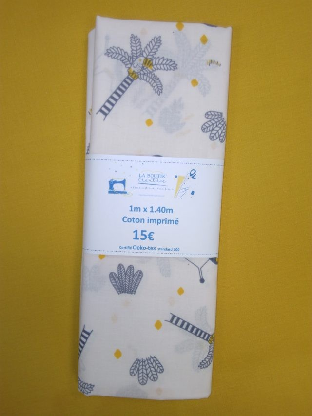 Coupon tissu savane Froufrou