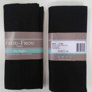 Tissu toile coton FrouFrou Noir
