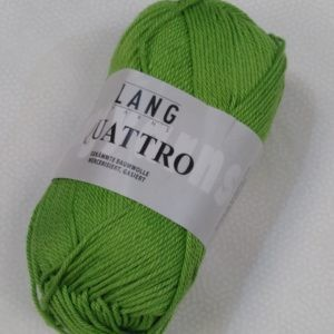 Fil coton Quattro Lang Yarns col vert anis