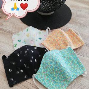 Masques en tissu et PUL pour une ASH