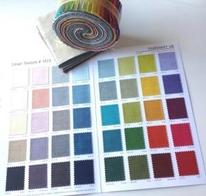 Nuancier Linen texture Fabrics 1