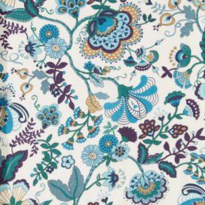 Tissu Liberty Mabelle Bleu  (x 10cm)