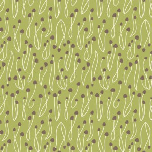 Tissu coton bio green Underwood Stories