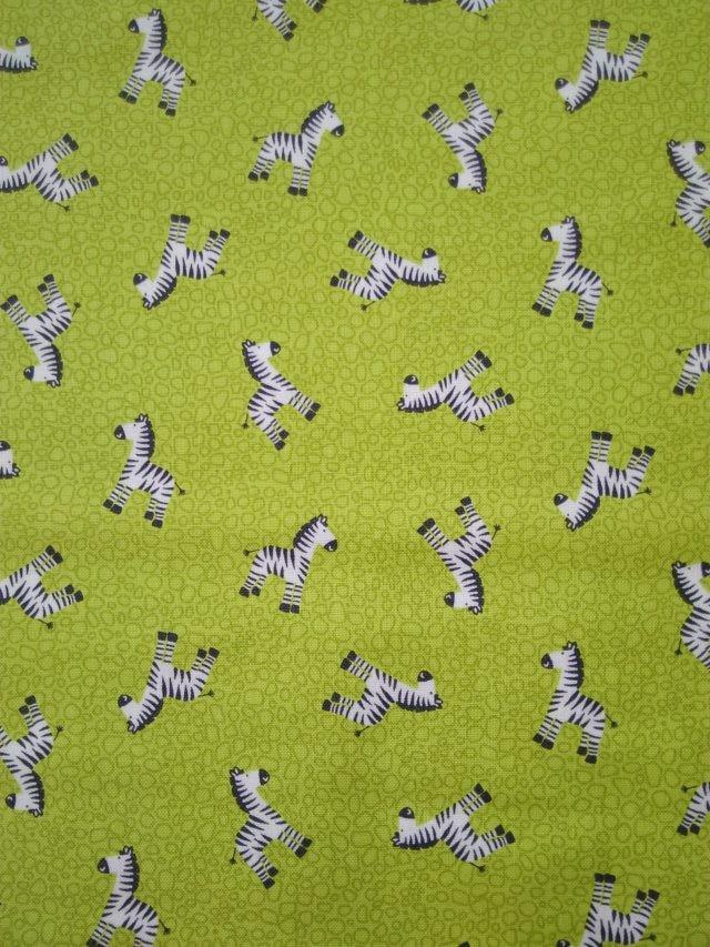 Tissu coton Les P'tits Zèbres b