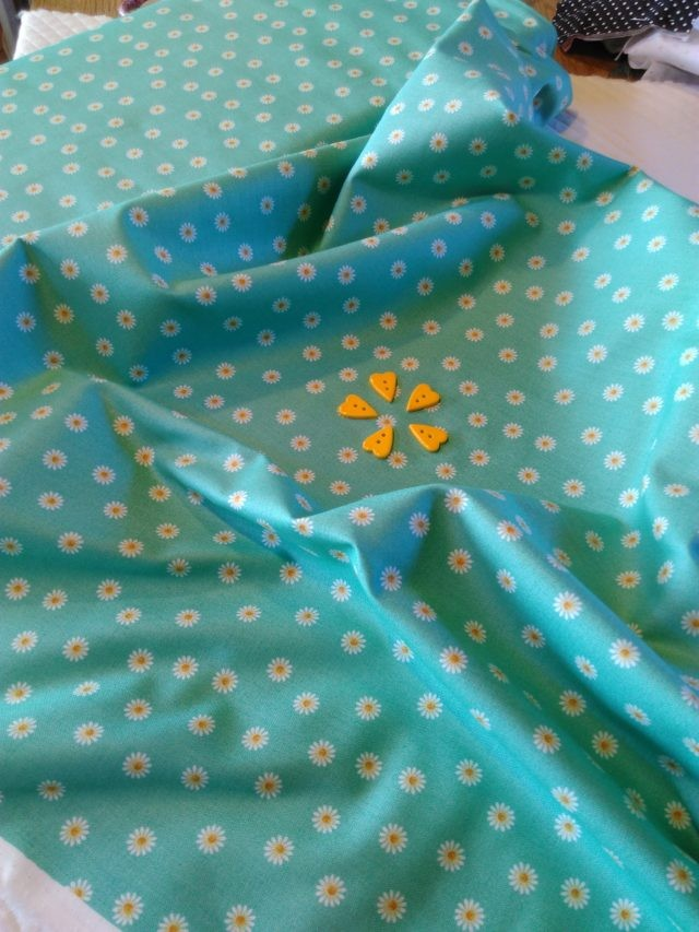 Tissu coton MAKOWER 2194 Spring Daisy 5