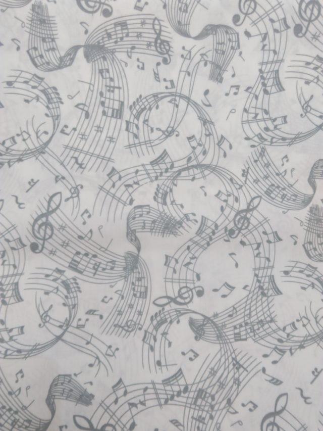 Tissu coton Musique La prtée s'envole