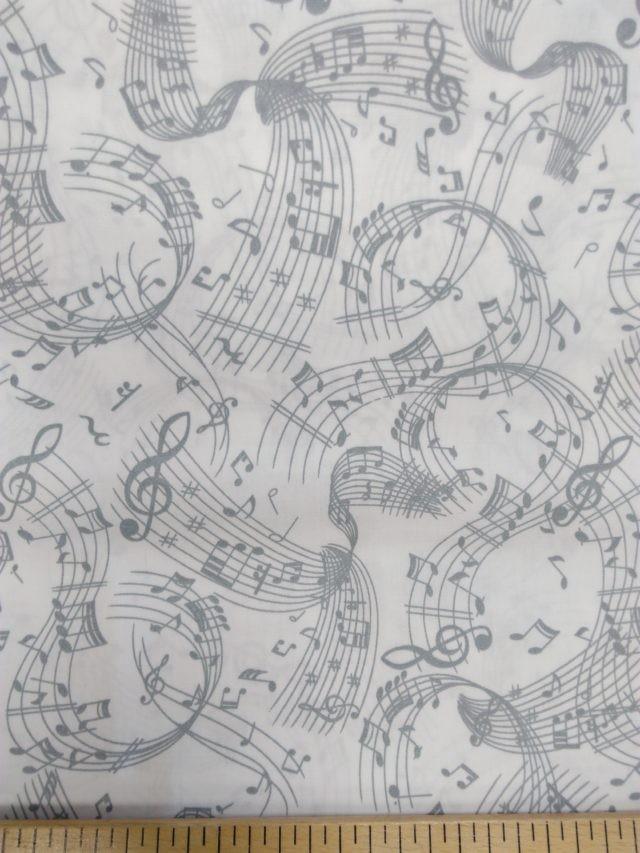 Tissu coton Musique La prtée s'envole 2