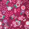 Tissu coton Peace and love rose