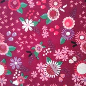 Tissu coton Peace & Love rose laize 110cm (x10cm)