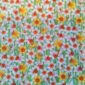 Tissu coton Makower Les jonquilles (x 10cm)