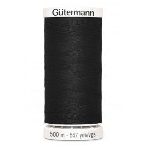 Fil à coudre polyester  Gütermann Noir Bobine de 500m