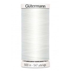 Fil à coudre polyester Gütermann Blanc Bobine de 500m