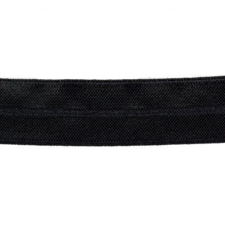 Biais élastique noir