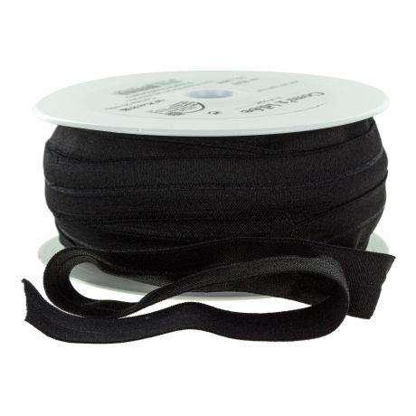 Biais bordure ordure élastique noir