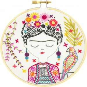 Coffret kit à broder – Jolie Frida – kit broderie