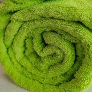 Tissu éponge vert anis (x10cm)