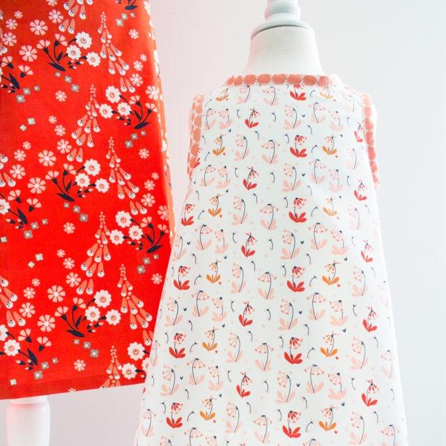 Tissu coton Bio CLOUD 9 foxglove dress