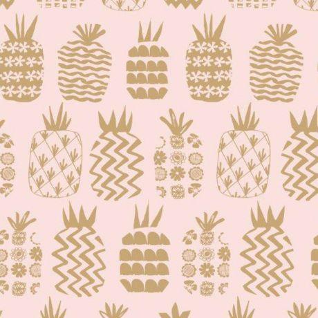 Tissu coton Dashwood les ananas dorés