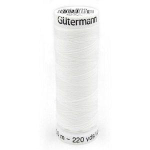 Fil à coudre polyester Gütermann Blanc Bobine de 200m